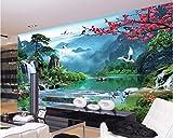 HONGYAUNZHANG Fiore Luminoso Rosso Foto Personalizzata Wallpaper 3D Stereoscopico Murale Soggiorno Camera Da Letto Divano Sfondo Muro Murales Camera Per Bambini,110Cm (H) X 190Cm (W)