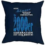Kissenbezug, Kissenhülle, Bezug für Kissen zum Geburtstag - Männer... die 2000er Generation ist die Beste!