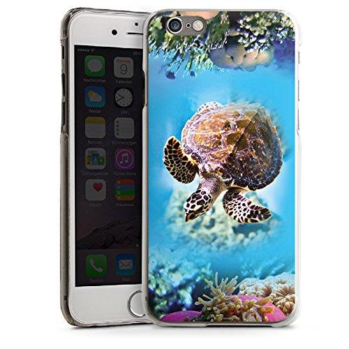 Apple iPhone 6 Housse Étui Silicone Coque Protection Tortue Animaux Sous-marin CasDur transparent