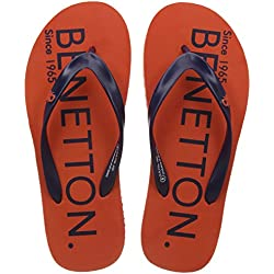 United Colors of Benetton Men's Orange Flip-Flops - 8 UK/India (42 EU)