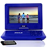 "Best Pyle Car Adapters - Pyle 9"" PORTABLE DVD PLAYER BLUE PDV91BL Review"