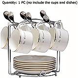 Yontree Support Présentoir 6 Plats 6 Tasses à Café Stockage Porte Egouttoir Cuisine