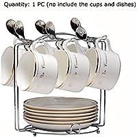 Yontree Soporte de Tazas Platos Expositor de Café Almacenamiento Escurridor Cocina con Base Redonda 17 *