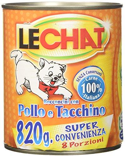 Monge lechat - bocconcini, con pollo e tacchino - 820 g