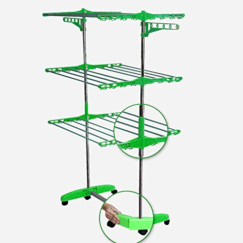 Kawachi Heavy Quality Floor Mounted Self Standing ABS Plastic Jumbo Cloth Drying Stand Made in India