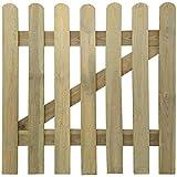 vidaXL Cancello di legno a picchetto per giardino 100 x cm