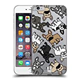 Head Case Designs Französische Bulldogge Hunderasse Muster Soft Gel Hülle für Apple iPhone 6 Plus / 6s Plus