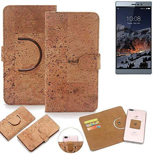 K-S-Trade Schutz Hülle für Switel eSmart M3 Handyhülle Kork Handy Tasche Korkhülle Schutzhülle Handytasche Wallet Case Walletcase Flip Cover Smartphone Handyhülle