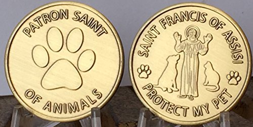 saint-francis-of-assisi-patron-saint-of-pets-protect-my-pet-medallion-set-of-2-bronze-paw-print-toke