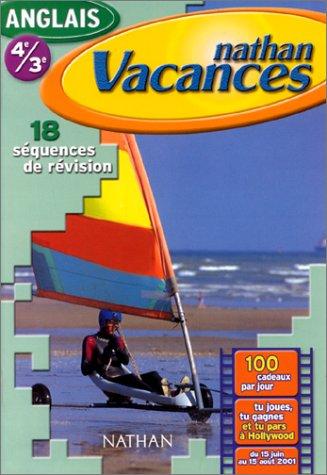 Cahier de Vacances 2001 : anglais 4e-3e par Serge Tripodi