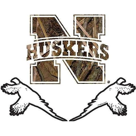 Nebraska Cornhuskers 6 Pheasant Camo Decal by