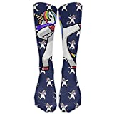 Hip Hop Dabbing Unicorn Pattern Fashion Athletic Socks Knee High Socks For Men&Women All Sport Holiday One Size Shoe Size 6-10