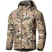 YuanDian Uomo Autunno Inverno Tattico Camouflage Softshell Giacca  Impermeabile Antivento Militare Combat Cappotto Giubbotto con Cappuccio b987105d64c1