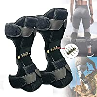 ADDCOOL Knee Booster Joint Support Knee Pads Knee Patella Strap Power Lift Spring Force Knee Protection Powerful Support Power-lift Joint Old Cold Leg Knee Band Sports Care (Black)