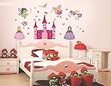 #5: Syga 'New Angel Castle Princess Fairy Art' Wall Sticker (PVC Vinyl, 61 cm x 5 cm x 5 cm)