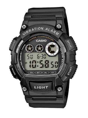 Casio Collection – Herren-Armbanduhr mit Digital-Display und Resin-Armband – W-735H-1AVEF