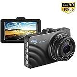 Dash Cam videocamera da cruscotto 1080p con WDR, grandangolare 140°, visione notturna, sensore G,...
