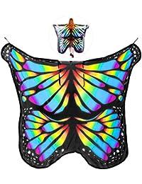1e0600bc5a94c MEIDI Home Frauen weiche Chiffon Halloween Party Schmetterlingsflügel Schal  Festival Wear Dress Up Cape