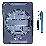 Cellular360 iPad Air 2 Hülle / Shockproof Gehäuse mit 360 Grad drehbarem Griff (Schwarz)