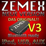 Zemex V3 USB iPod iPad iPhone Aux MP3 Adapter Audi RNS Navi Plus Concert Chorus Symphony
