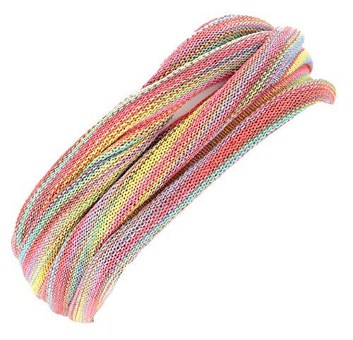 Guru-Shop Doppel Haarband, Magic Hairband, Dread Wrap, Schlauchschal, Stirnband, Herren/Damen, Rosa/bunt, Baumwolle, Size:One Size, Stirnbänder Alternative Bekleidung (Wrap Damen Doppel)