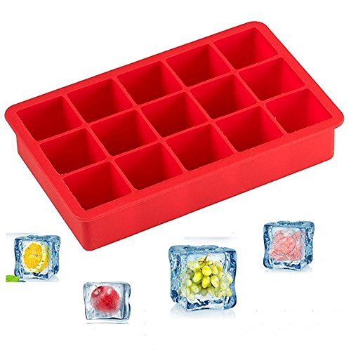 Woogor Ice Cube Tray Flexible Silicone Create Square Ice Cube Mold Makes...