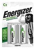 Energizer Batterie Ricaricabili C, Recharge Power Plus, Confezione da 2