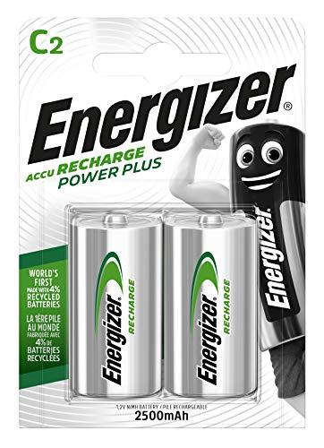 Energizer Akkus C, Recharge Power Plus, 2 Stück Energizer Recharge