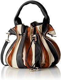 CTM Bolso, bolso de mano de la mujer en cuero genuino hecha en Italia 28x27x28 Cm