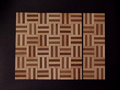 Preisvergleich Produktbild 20x15cm.(363,33 EUR/m²). Parkett für Puppenhaus 1:12. Aus Holz, unbehandelt