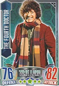 Alien Attax - 212 THE FOURTH DOCTOR (Time Lord) Individual Trading Card.