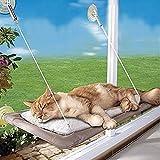 yookay Katze Fenster Sitzstange Hundebett Sitz, Fenster montiert Cat hängen Hängematte mit 4Ultra robuste Saugnäpfe für bis zu 16kg