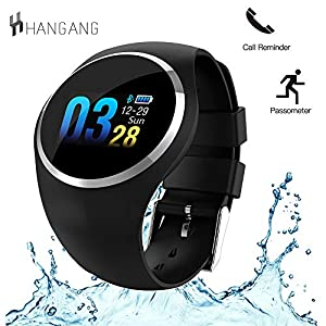 Hangang N68 Smartwatch mit LED-Bildschirm, Bluetooth 4.0, Herzfrequenzmesser, Blutdruckmessgerät, Fitness-Tracker