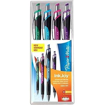 Papermate InkJoy 550 RT Stylo Bille Rétractable Assortiment Fun - Lot de 4