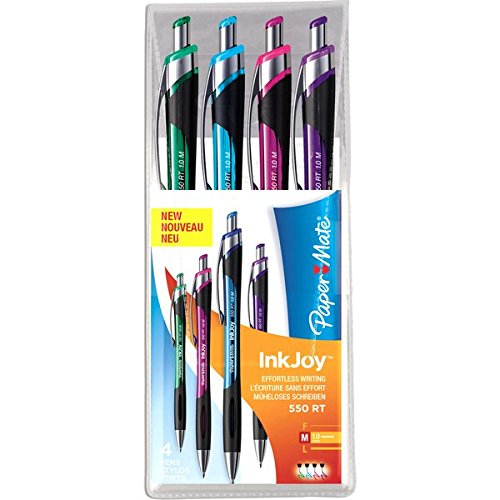papermate-inkjoy-550-rt-retractable-ball-pen-with-10-mm-medium-tip-assorted-fun-colours-pack-of-4