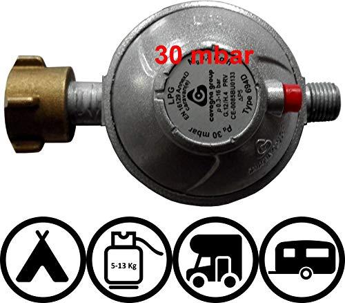 TGO Sicherheits-Druckregler für Fahrzeuge Caravan und Wohnmobile 30 oder 50mbar (mit Aufdruck 2018) (30mbar)