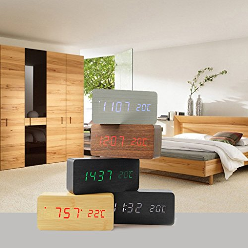 Digitaler LED Holzwecker - 7