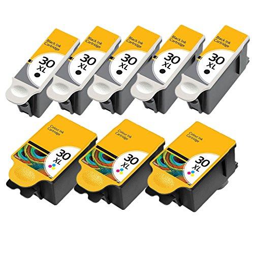 TIAN Kompatible Tinte Kodak 30 XL Drucker Tintenpatronen 30B & 30 C zu ersetzen für Kodak ESP 1.2, 3.2, 3.2S, C110, C310, C315, Office 2170, 2170 & Hero 3.1, 5.1 Drucker (3set+2BK) (30 Traditionelle Post)