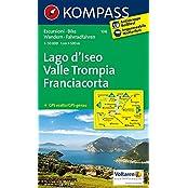 Lago d'Iseo - Valle Trompia - Franciacorta: Wanderkarte mit Radrouten. GPS-genau. 1:50000 (KOMPASS-Wanderkarten, Band 106)