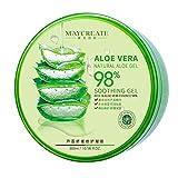 Oshide Aloe vera gel 98% zieht schnell ein, keine Rückstände, Feuchtigkeitspflege für Gesicht, Haut und Haar 300ml
