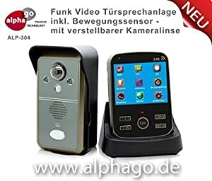 funk video t rsprechanlage alp304 drahtlose gegensprechanlage kabellose installation. Black Bedroom Furniture Sets. Home Design Ideas