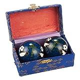 Chino Baoding bolas-2piezas de metal bolas de estrés para mano salud, chino Fidget...