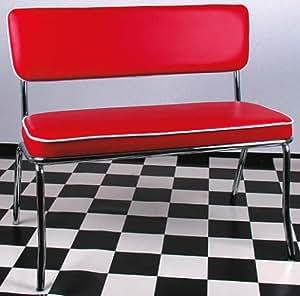 american shop diner bank bench style rot k che haushalt. Black Bedroom Furniture Sets. Home Design Ideas