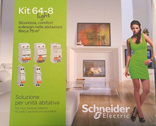 KIT Interruttori Magnetotermici Differenziali Schneider Electric per la realizzazione del tuo impianto elettrico di Livello 1 secondo la nuova CEI 64-8
