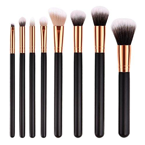 MagiDeal 7x /10x Kit Pinceaux de Maquillage Brosse Cosmétique à Poudre Fondation Ombre à Paupières Anticernes - 8pcs