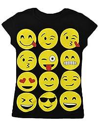 Chicas Polainas Emoji Emoticonos Caras Sonrientes Pantalones Elástico Bottoms Niños Edad Nueva 7 9 11 13 años