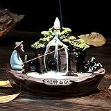 Incensiere in ceramica Bruciatore di incenso Riflusso Incensiere Guilin Scenery