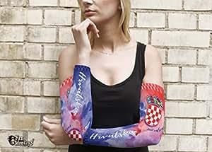 Kroatien 2 tlg. Frauen Armling Armstulpen Fan Ärmel Fanartikel Fussball