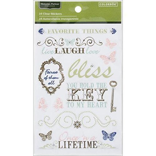 Making Memories Clear Stickers with Gems, Victorian Parlour by MAKING MEMORIES