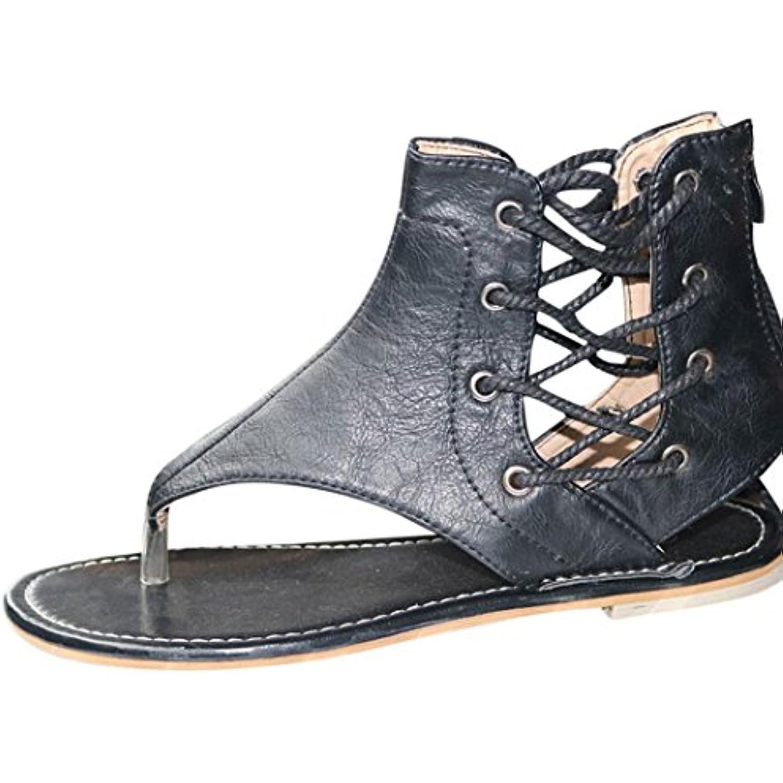 Chaussures Taille Femmes Été, GongzhuMM Femmes Bohémien s Grande Taille  Chaussures Zipper Tongs Femmes Chaussures 84e408157b48